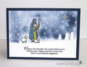 Weihnachtskarte Hirte