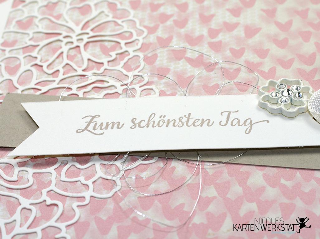 Mini Album Hochzeit Detail