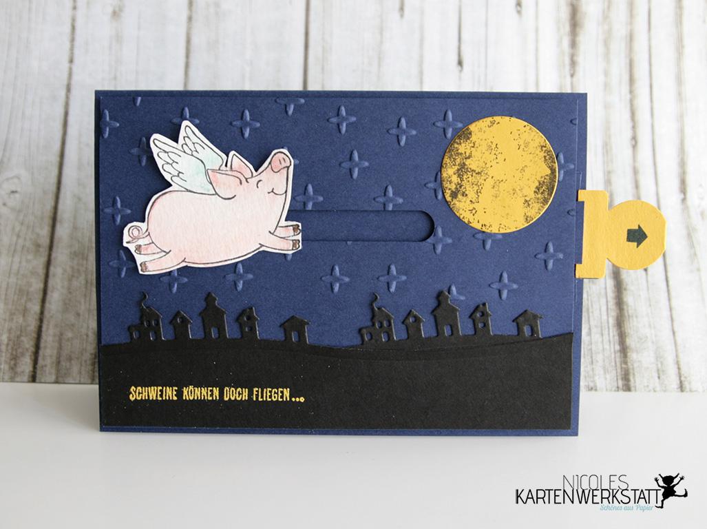Ziehkarte Glücksschweinchen
