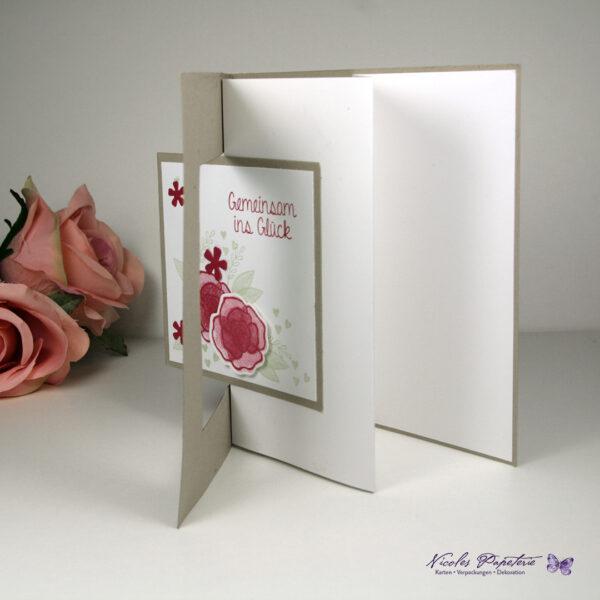 Hochzeitskarte Gemeinsam ins Glück Seitenansicht