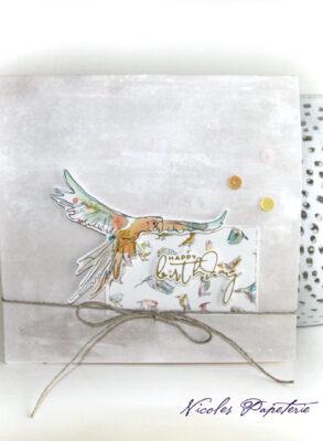 Popup-Karte mit Vögeln