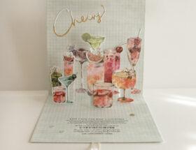 Popup-Karte Cocktails